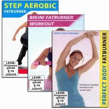 3 Fatburner Fitness DVD Set - Step Aerobic - Bikini Workout - Perfect Body - Neu