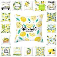 Gelb Zitrone Kissenbezug Polyester Kissenbezüge Kissenhülle Kissen Hülle Dekor