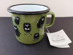 MUURLA GREEN ENAMEL Moomin Character Mugs - STINKY