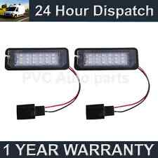 2X FOR VOLKSWAGEN GOLF GTI BEETLE SCIROCCO 18 WHITE LED NUMBER PLATE LIGHT LAMPS