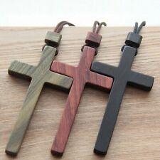 Red/Black/Origin Wooden Cross Pendant Necklace Men's / Women's Fashion Necklace