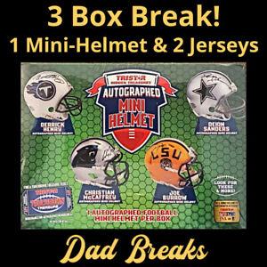 NEW ORLEANS SAINTS TriStar autographed/signed Mini-Helmet +  Jerseys 3 BOX BREAK