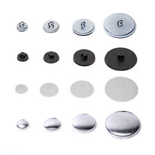 Knöpfe 1 Stück schwarzer Pannésamt Stoff bezogen 28 mm