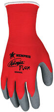 Memphis N9680 Ninja Flex Dozen Medium Red 15 Gauge Latex Palm Safety Gloves