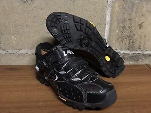 Lake Cycling MX190 Vibram Shoes Mountain Biking mens Size (11-11.5 Wide) Black