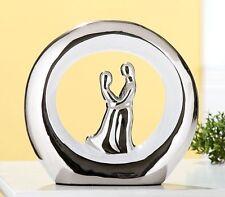 """Gilde Skulptur """"Hochzeit"""" Keramik Heirat weiss silber Paar Romantik Liebe 34092"""