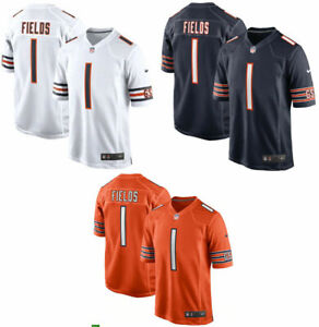 New Men's Chicago Bears Justin Fields #1 2021 Game Jersey Stitched