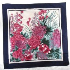 """Overseas Advantage Ladies Polyester Scarf 27"""" X 27"""" Multi-Color Floral"""