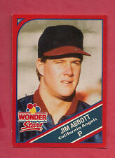 RARE 1990 ANGELS JIM ABBOTT   WONDER BREAD STARS CARD