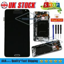 For Samsung Galaxy Note 3 N9005 LCD Display Touch Screen Digitizer Black + Frame