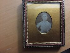 DAGUERREOTYPE VINTAGE ODD MAT: Dag of a Young Girl Holding a Book - Educational?