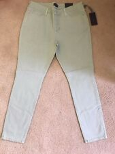 NWT NYDJ Not Your Daughters Jeans PASTEL MEADOW GREEN Legging Size 12P