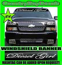 Diesel Girl Windshield Brow Vinyl Decal Sticker Diesel Truck Boost Turbo Smoke