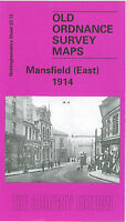 OLD ORDNANCE SURVEY MAP MANSFIELD EAST 1914 TOWN HALL WEST GATE PARK AVENUE