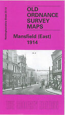 OLD ORDNANCE SURVEY MAP MANSFIELD EAST 1914
