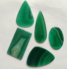 186 Ct Natural Algeria Green Onyx Mix Shape Loose Gemstone Jewelry Wholesale Lot