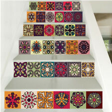 3D Stairs Tile Risers Mural Vinyl Decal Wallpaper Stickers Decor Decals 6PCS/set