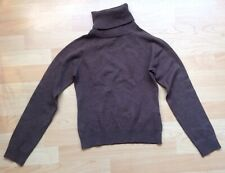H & M Hennes Women's XS Polo Neck Brown Polo Neck Sweater