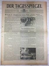 DER TAGESSPIEGEL (26.11.1963): Kennedy in Arlington zur letzten Ruhe gebettet