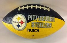 "Pittsburgh Steelers Hutch NFL Football Black Gold 12"" Game Souvenir"