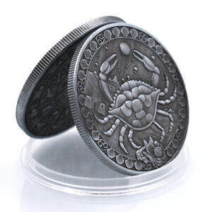 Cancer Commemorative Copper Coin Creative Metal Coin Art Ornament