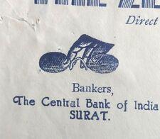 India vintage illustrated letterhead ZENITH OPTICAL MART Surat