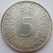 Top! 5 DM 1959 G in eccellente/timbro lucentezza RARO!!!