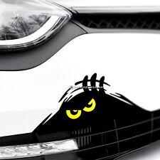 MONSTER YELLOW EYES PEEPER Funny Car,Bumper,Window JDM DUB Vinyl Decal Sticker