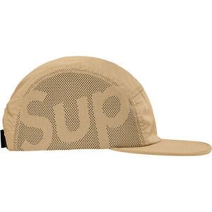 Supreme Sup Mesh Camp Cap Tan Hat FW19