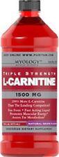 TRIPLE STRENGTH L-CARNITINE 1500mg GRAPE DIETARY SUPPLEMENT 16 OZ LIQUID BOTTLE