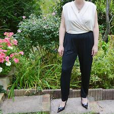 Combinaison pantalon Femme fluide Grande Taille 50 noir rose Poppy ZAZA2CATS new