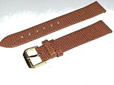 18MM GENUINE LEATHER  ARCADIA CHT LIZARD GRAIN fits Hamilton Boulton