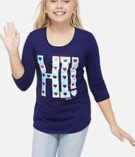 Justice Girl's Size 18 HI Flippy Sequin Graphic Tee New with Tags