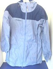 COLUMBIA SPORTSWEAR~Blue HOODED NYLON WINDBREAKER JACKET~Small~Waterproof