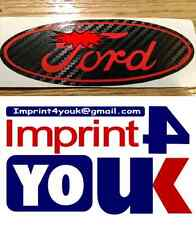 Ford Badge 3D Carbon Fibre Sticker In Red For Car All Good Smooth Surfaces******