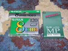 8mm BLANK CASSETTES Lot of 2 BRAND NEW Sealed FUJI Supertape 120 Minute GREAT!!!