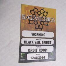 """BLACK VEIL BRIDES Tour 3x 4 1/2"""" Cloth Backstage Pass"""