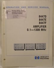 HP 8447D/E/F AMP 0.1-1300MHz OPERATING & SERVICE MANUAL