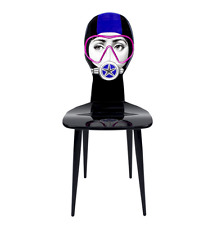 Fantastic Fornasetti CHAIR SILVIASUB PURPLE / MASK PINK ~ NEW