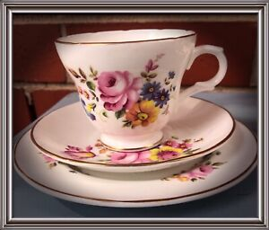 Bone China Crown Trent Staffordshire England Cup, Saucer & Plate