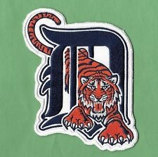 "New Detroit Tigers Large D Tiger' 3 1/2 X 5"" Iron on Patch Free Shipping"