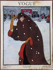 Vogue Vintage Original Winter Fashions Conde Nast Lithograph Art Print