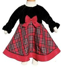NWT GOOD LAD GIRL'S PLAID TAFFETA CHRISTMAS SET WITH BOLERO JACKET (18 M)