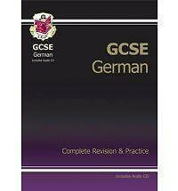 GCSE German Complete Revision & Practice with Audio CD (A*-G Course) by CGP Book