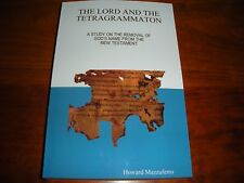 """""""The Lord and the Tetragrammaton"""" Watchtower Research Jehovah New World Trans."""
