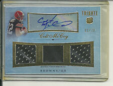 COLT MCCOY RC AUTO 3X JERSEY 2010 TOPPS TRIBUTE #01/20