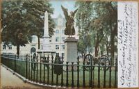 1906 Postcard: Ayer Soldier's Monument- Lowell, Mass MA