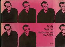 1971 ANDY WARHOL His Early Works 1947-1959 Gotham BookMart Gallery Catalogue $$