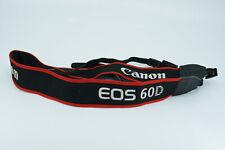 Original Canon Black / Red EOS 60D DSLR Shoulder Neck Camera Strap