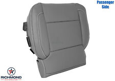 2014-2019 GMC Sierra SLT - Passenger Bottom PERFORATED Leather Seat Cover Gray